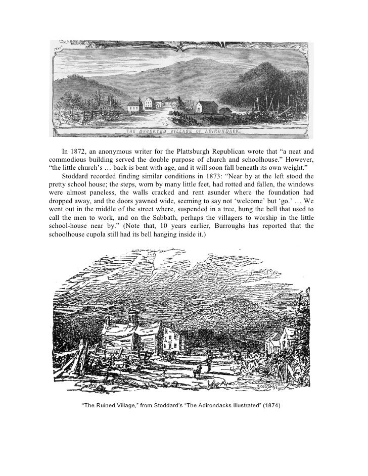 """Above, """"Church of Tubal-Cain,"""" from Masten's """"Story of Adirondac"""" (1923).         Below, photocopy of R.H. Robertson water..."""