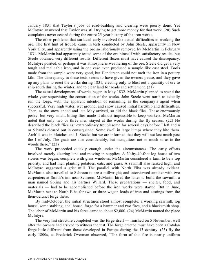 Annals of the Deserted Village (Part 3)