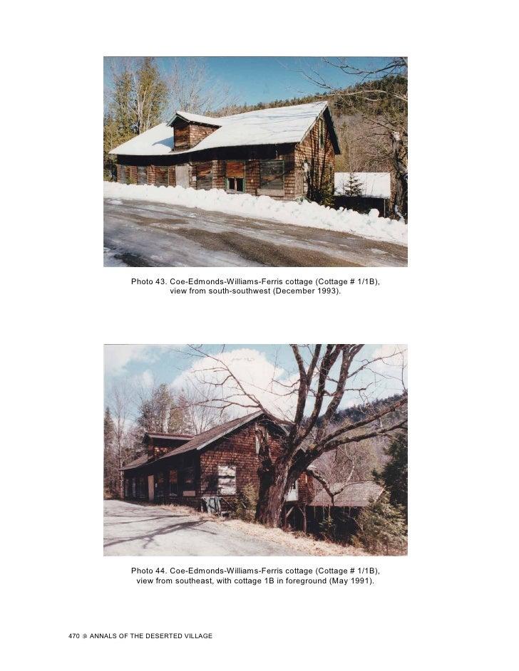 Photo 43. Coe-Edmonds-Williams-Ferris cottage (Cottage # 1/1B),                           view from south-southwest (Decem...