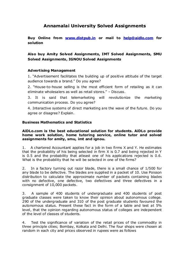 Annamalai University Distance Education Admission, Courses & Fee Structure 2018-2019