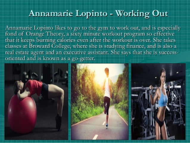 Annamarie Lopinto - Working OutAnnamarie Lopinto - Working Out Annamarie Lopinto likes to go to the gym to work out, and i...