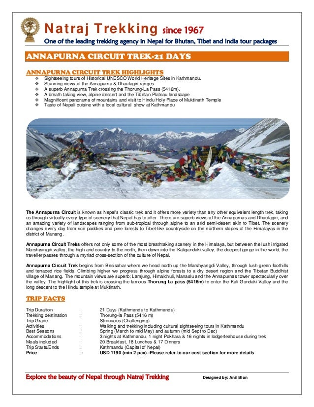 Natraj Trekking since 1967 One of the leading trekking agency in Nepal for Bhutan, Tibet and India tour packages Explore t...