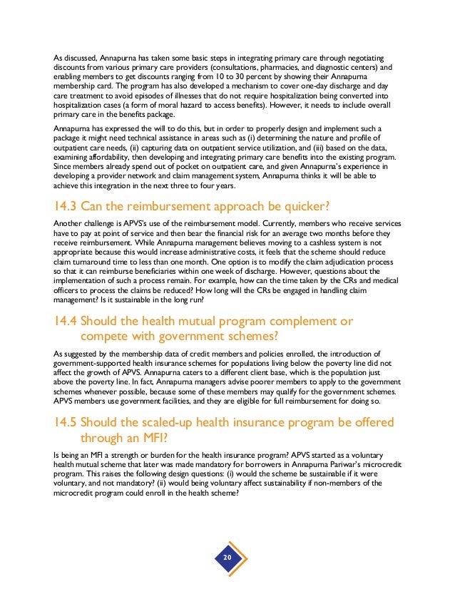 Annapurna Pariwar Community/Mutual Health Insurance Program