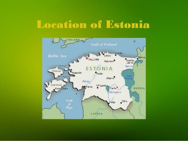 Location of Estonia