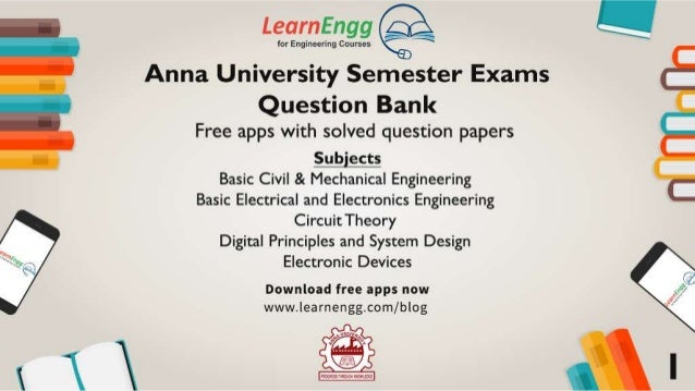 Anna University Semester Exams - Question Bank & Exam Tips Slide 2