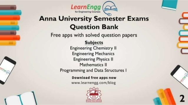 Anna University Semester Exams - Question Bank & Exam Tips Slide 3