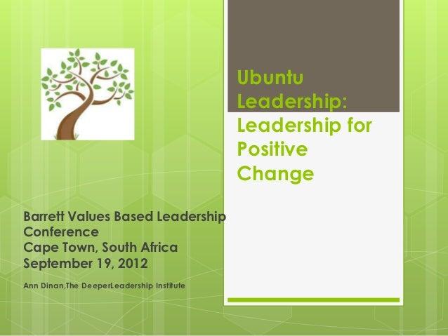 Ubuntu                                           Leadership:                                           Leadership for     ...
