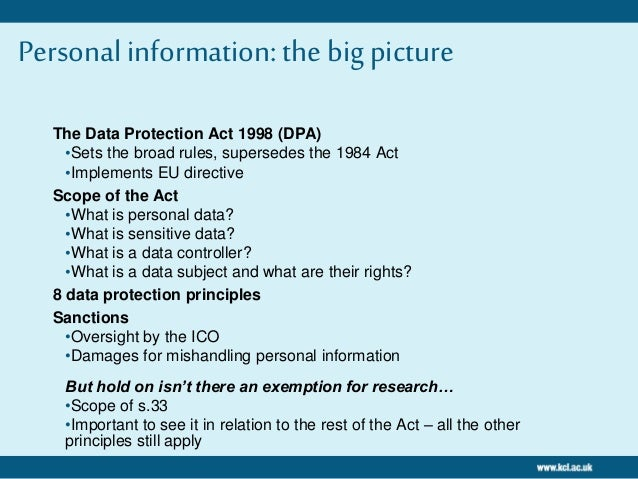 Principles Still Apply 3 The Data Protection