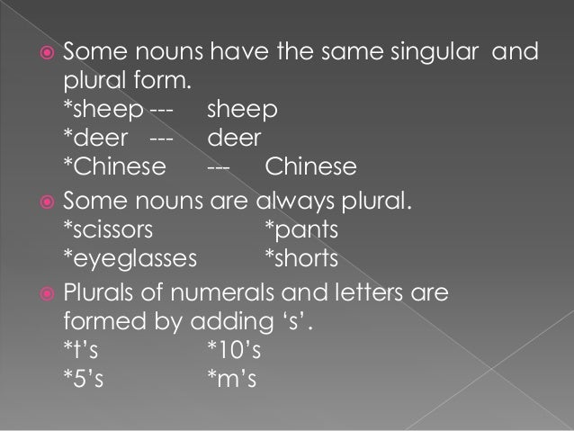 plural of count nouns