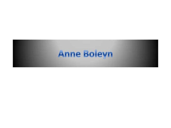 Anne Boleyn<br />