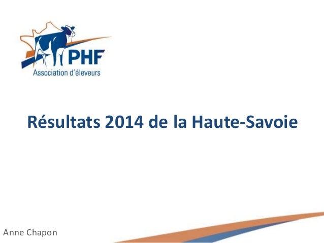 Résultats 2014 de la Haute-Savoie Anne Chapon