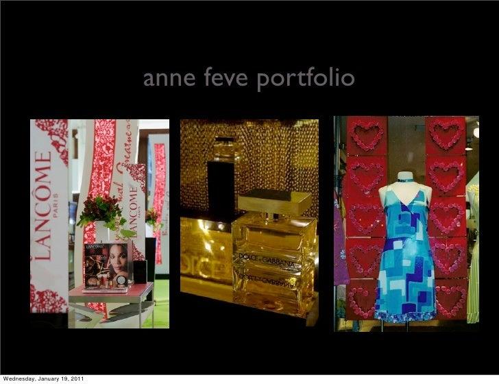 anne feve portfolioWednesday, January 19, 2011