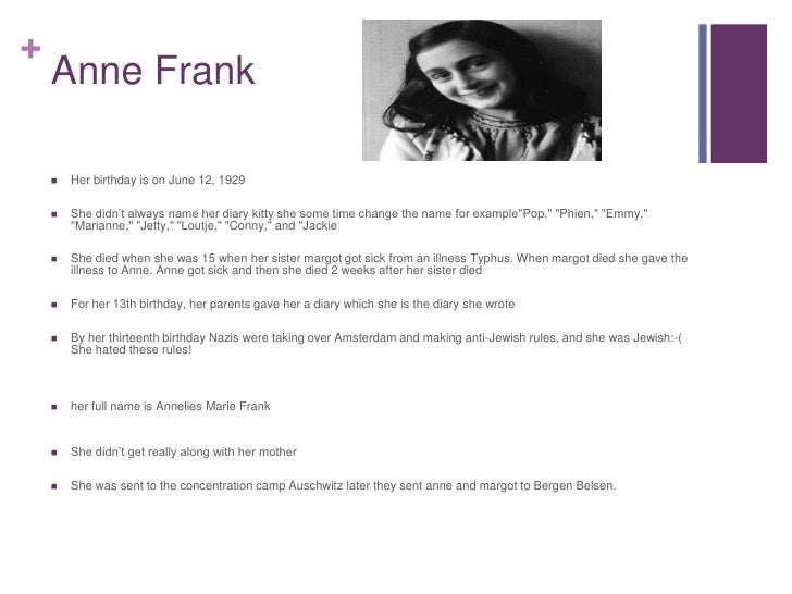 Facts about Anne Frank and others in the secret Annex
