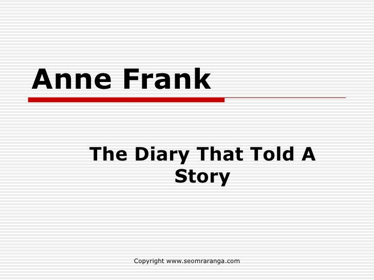 Study Guide for 'The Diary of Anne Frank' the Play