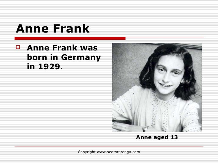 Anne frank homework version