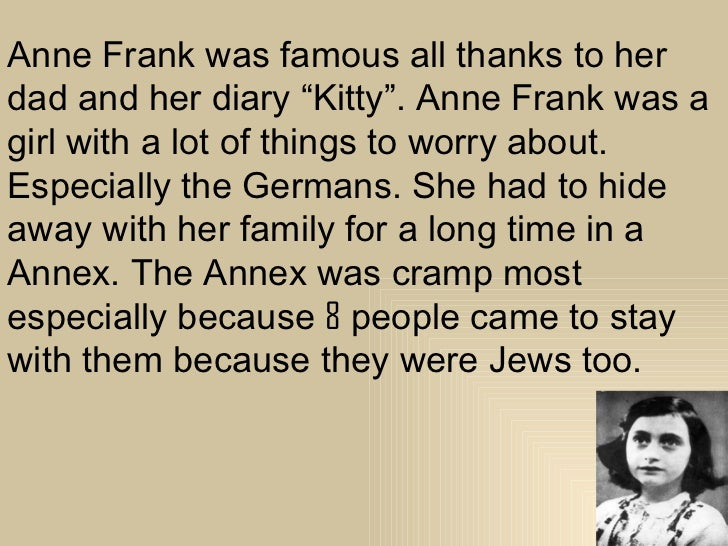 Anne frank biography Serg