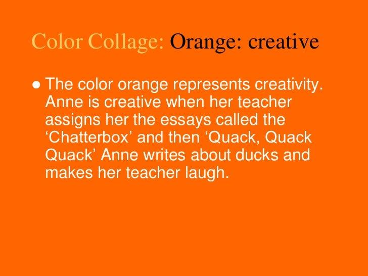 Annefrank ela - How to make the color orange ...