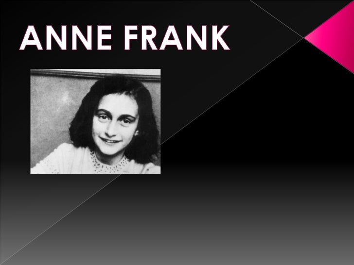 ANNE FRANK<br />