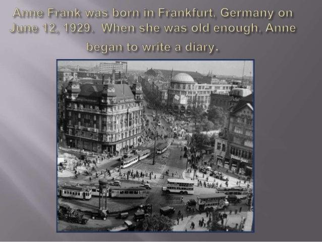 Anne Frank memorial.