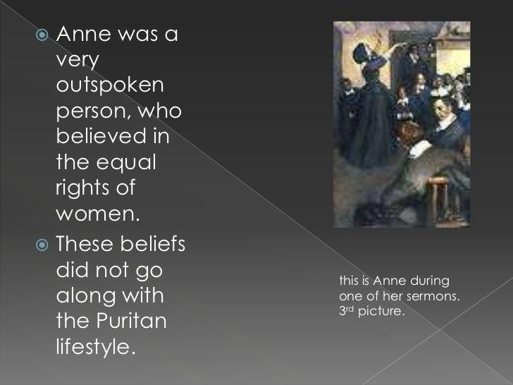 Anne hutchinson beliefs