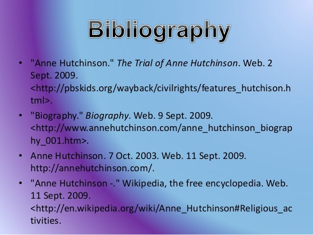 essay on anne hutchinson trial Sample of the life of anne hutchinson essay (you can also order custom written the life of anne hutchinson essay.