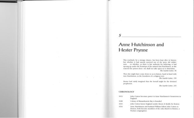 anne hutchison vs hester prynne article 5 anne hutchinson and hester prynne this rosebush by i strange chance
