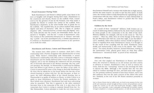 Anne hutchison vs. hester prynne article