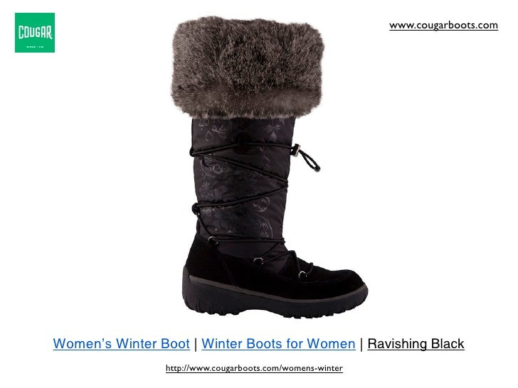 www.cougarboots.comWomen's Winter Boot | Winter Boots for Women | Ravishing Black                 http://www.cougarboots.c...