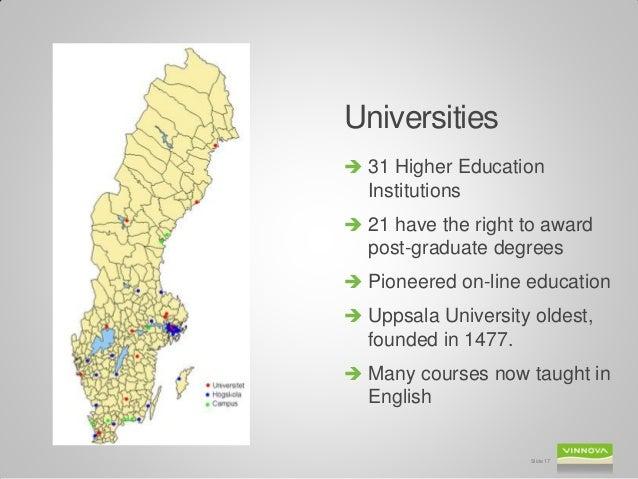 Anne Lidgard VINNOVA Sweden Innovation Ecosystem Snapshot Stanf - Sweden map universities