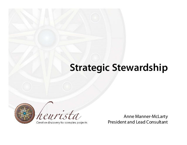 Strategic Stewardship Anne Manner-McLarty President and Lead Consultant