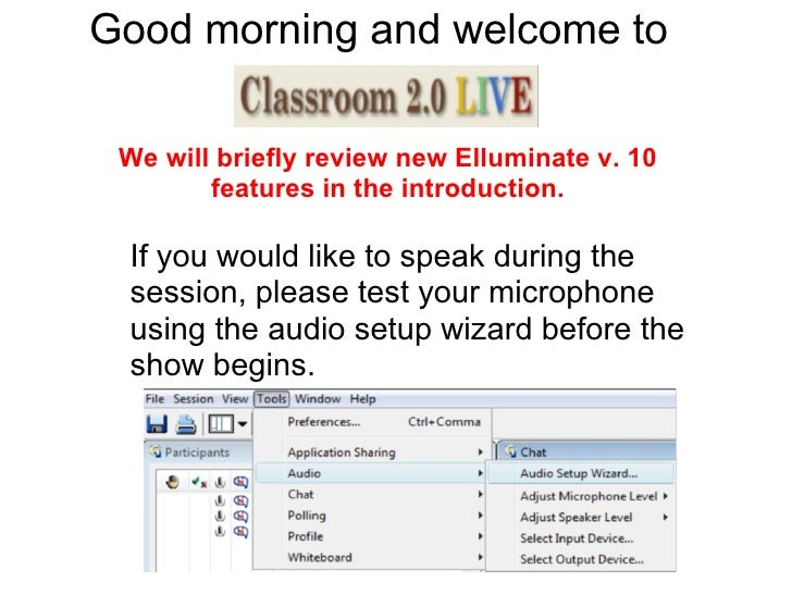 Good morning and welcome to  .. If you would like to speak during the session, please test your microphone using the audio...