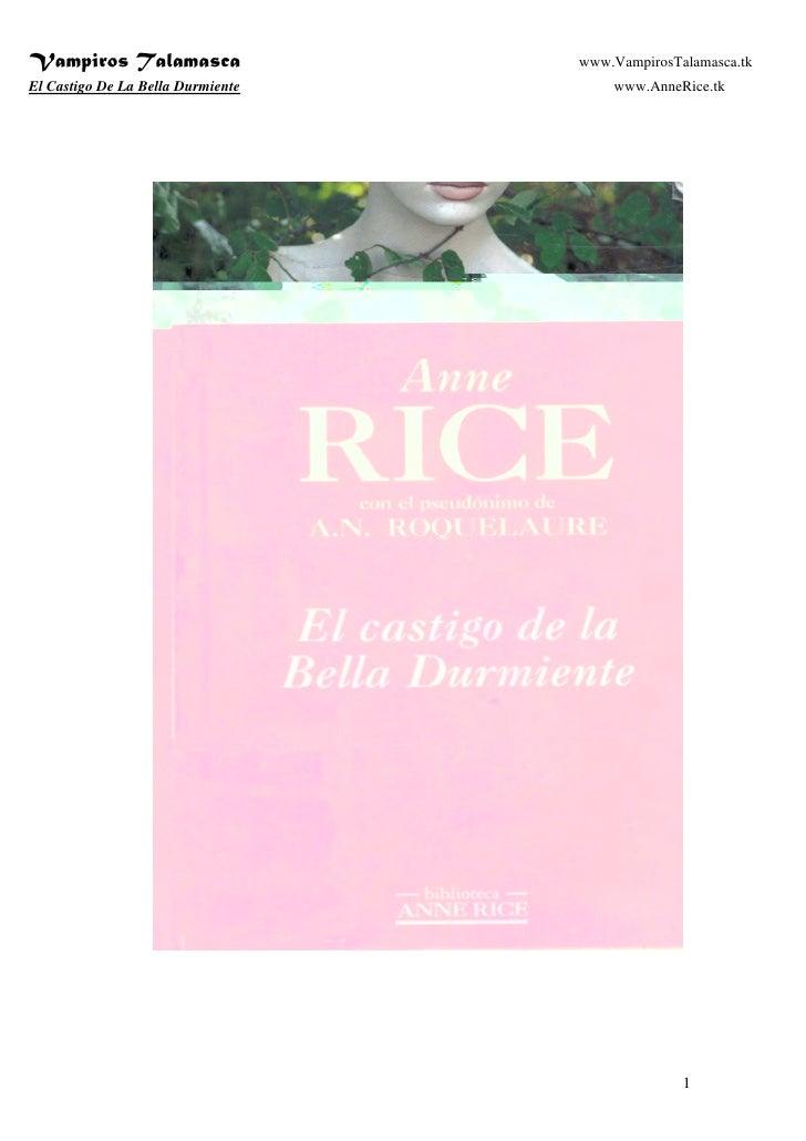DESCARGAR EL CASTIGO DE LA BELLA DURMIENTE ANNE RICE PDF
