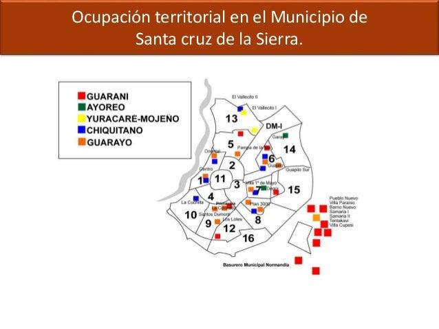 Ocupación territorial en el Municipio de Santa cruz de la Sierra.