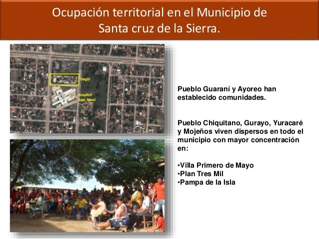 Ocupación territorial en el Municipio de Santa cruz de la Sierra. Pueblo Guaraní y Ayoreo han establecido comunidades. Pue...
