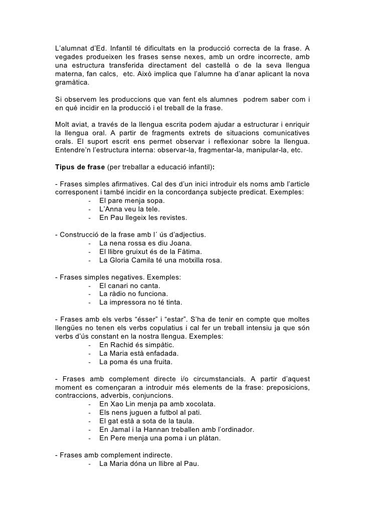 Annex 2 Orientacions Per Al Treball De La Frase
