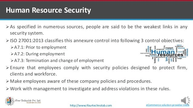 ISO 27001 2013 A7 Human Resource Security Part 1- by Software development company in india Slide 3
