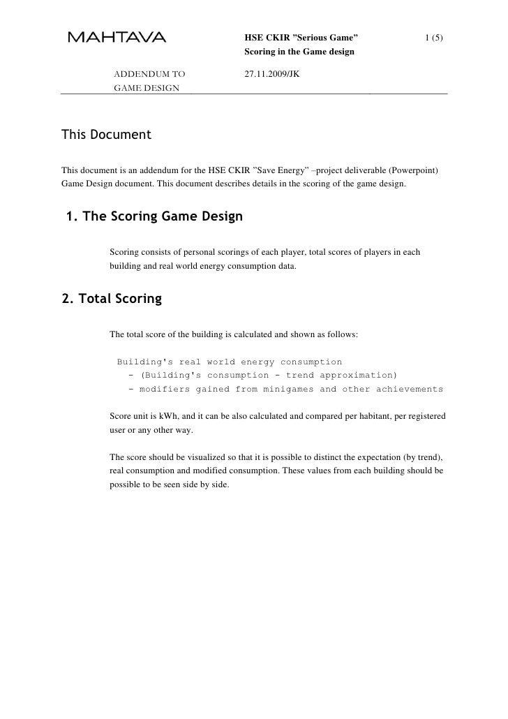 """HSE CKIR """"Serious Game""""                            1 (5)                                                 Scoring in the Ga..."""