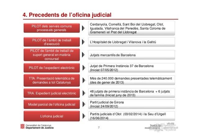 entrada en funcionamiento de la nueva oficina judicial en