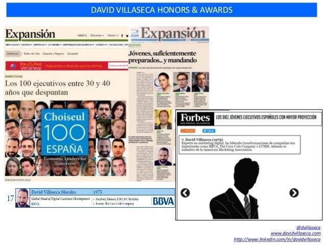 DAVID VILLASECA HONORS & AWARDS @dvillaseca www.davidvillaseca.com http://www.linkedin.com/in/davidvillaseca