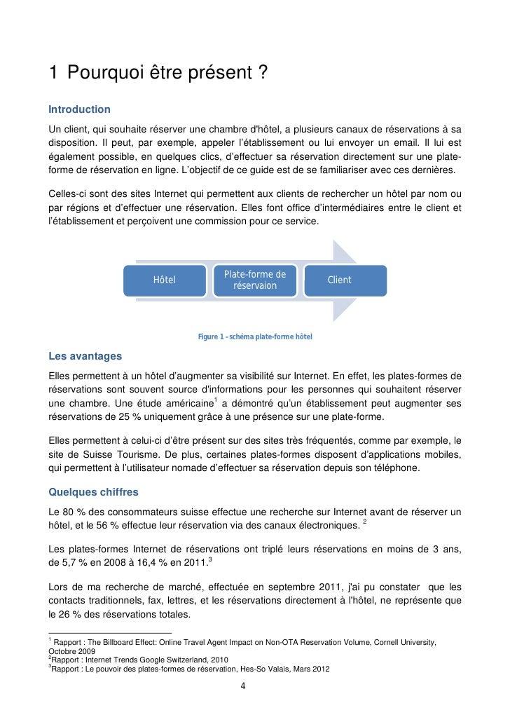 Les plates formes internet de r servation guide d 39 utilisation for Plateforme reservation hotel