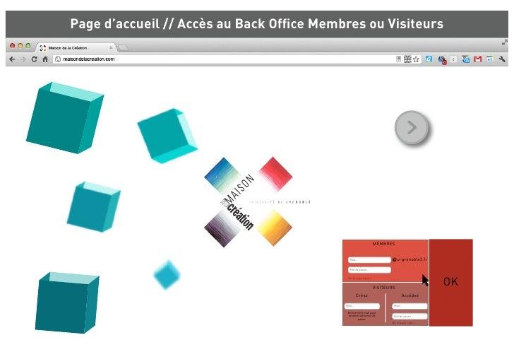 Page d'accueil // Accès au Back Office Membres ou Visiteurs                                                                ...