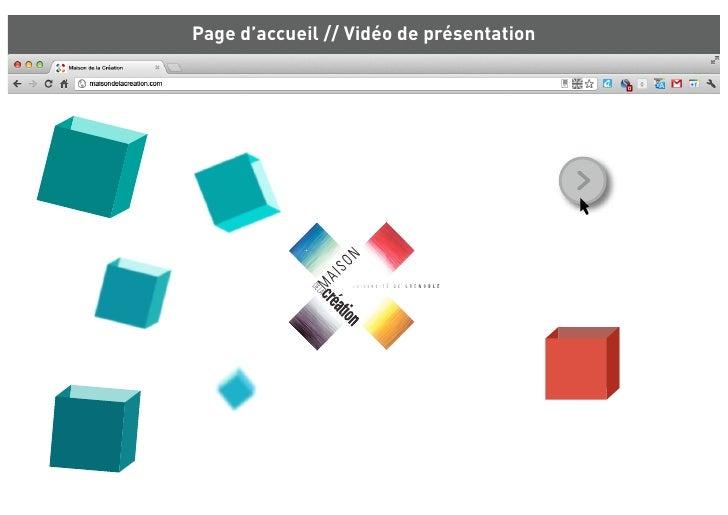 Page d'accueil // Vidéo de présentation
