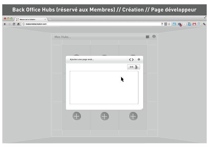 Back Office Hubs (réservé aux Membres) // Création // Page développeur               Mes Hubs...                         Aj...