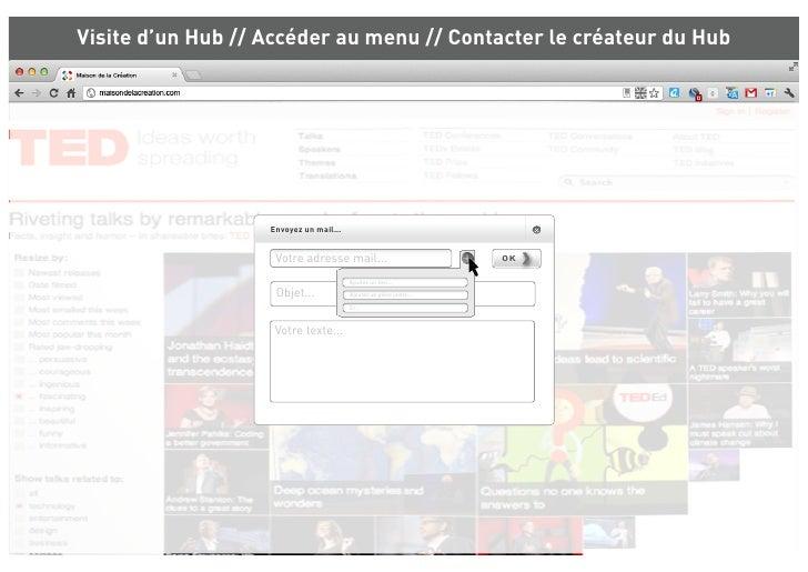 Visite d'un Hub // Accéder au menu // Contacter le créateur du Hub             Les Nubs pratiques              Rechercher ...