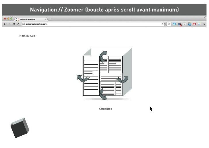 Navigation // Zoomer (boucle après scroll avant maximum)Nom du Cub                               Actualités
