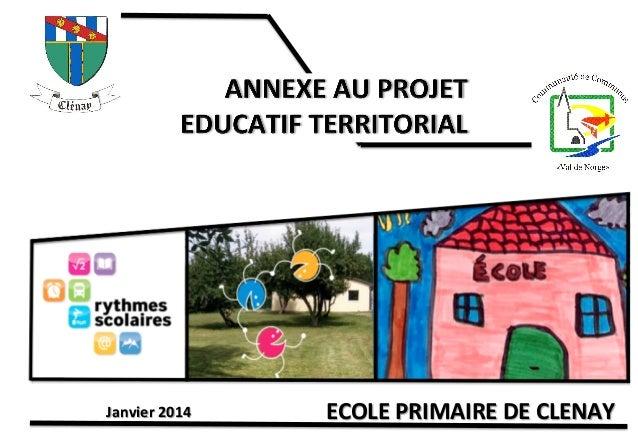 Janvier  2014    ECOLE  PRIMAIRE  DE  CLENAY