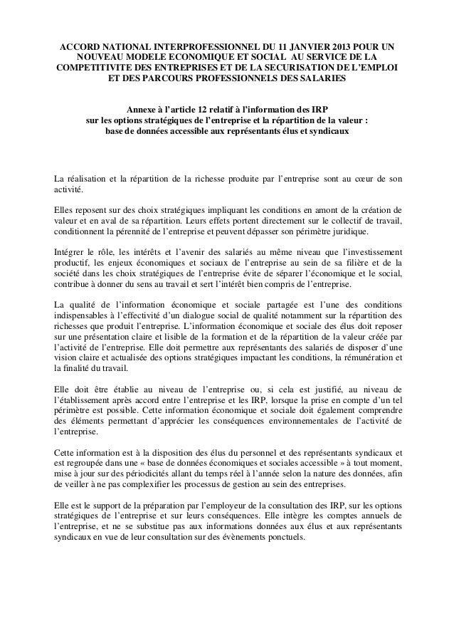 Annexe Cadrage Du Dialogue Socio Economique
