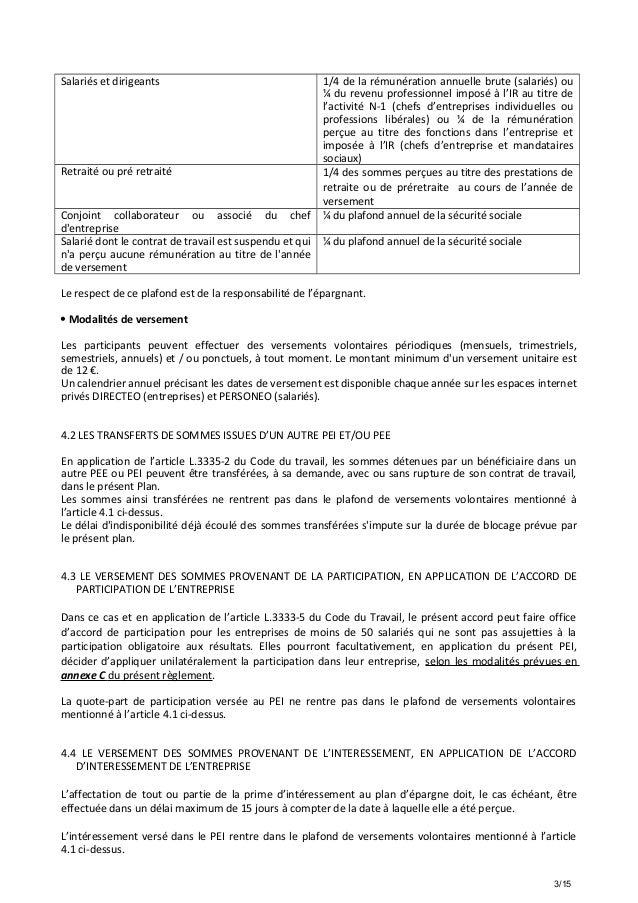 Idcc 1412 annexes 1 et c projet de r glement pei - Plafond de deduction au titre de l epargne retraite ...