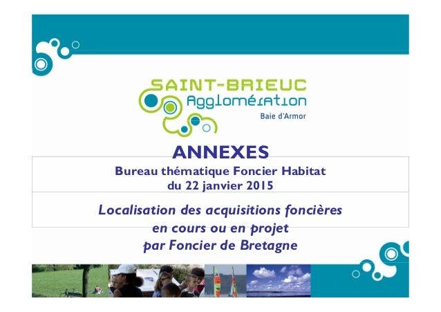 ANNEXES Bureau thématique Foncier Habitat du 22 janvier 2015 Localisation des acquisitions foncières en cours ou en projet...
