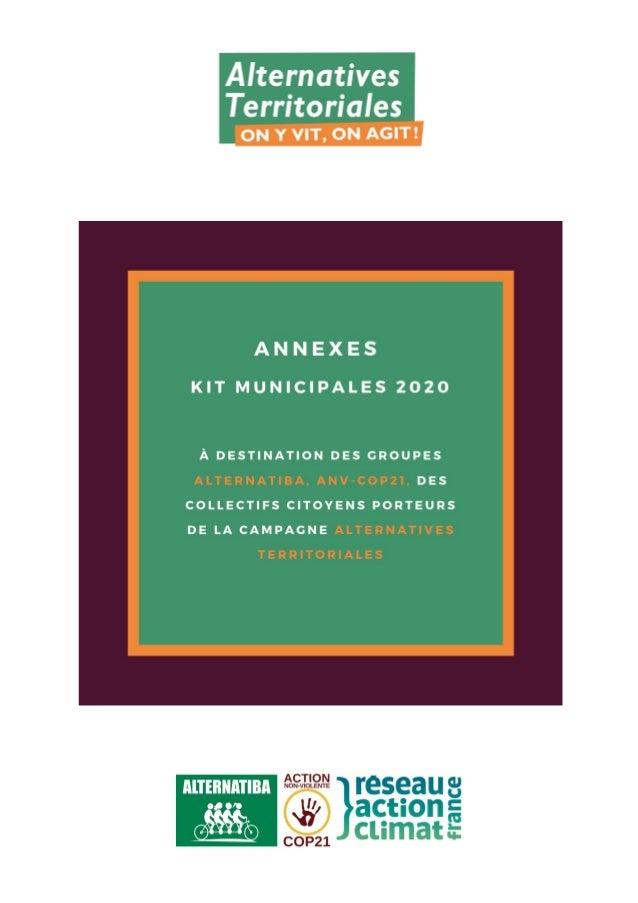 Réalisé par l'équipe de coordination d'Alternatives Territoriales - dernière mise à jour : 2 juillet 2019 Plan - Annexes d...